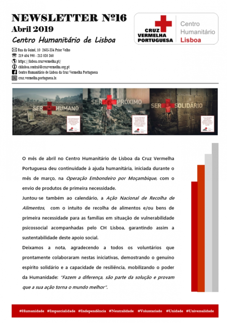 Newsletter do CH Lisboa Abril